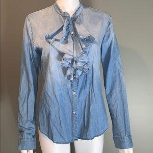 NSF Womans Jean Button Down Blouse SZ.M